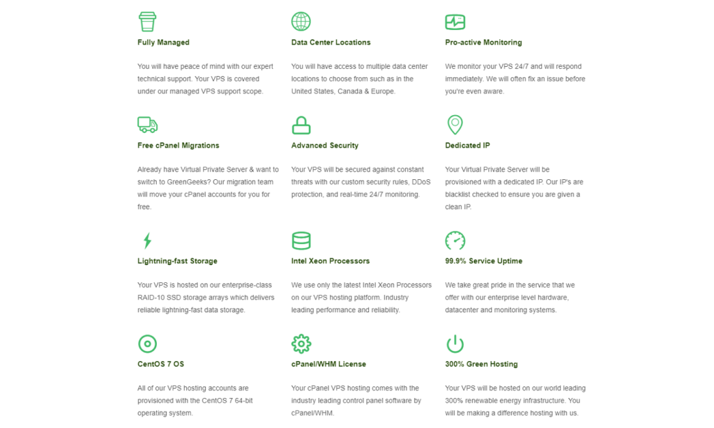 GreenGeeks hosting review 2021 - Features